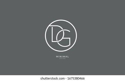 alphabet letter icon logo DG