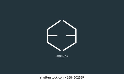Alphabet letter icon logo EE