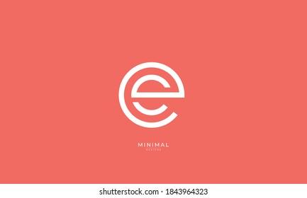 Alphabet letter icon logo ES or SE