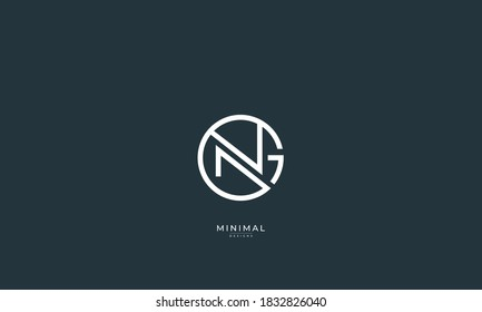 Alphabet letter icon logo Gn or NG