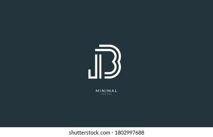 Alphabet letter icon logo JB