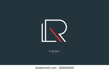 Alphabet letter icon logo LR or RL