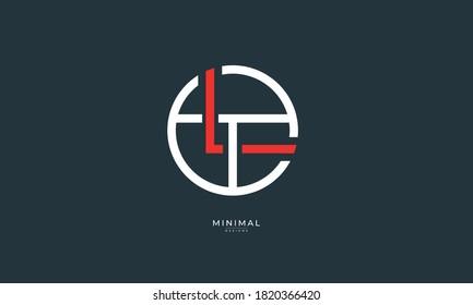 Alphabet letter icon logo LT or TL