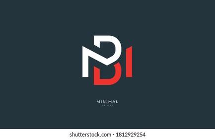 Alphabet letter icon logo MB or BM