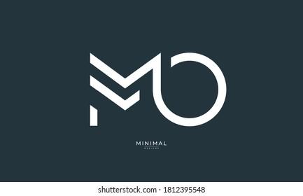 Alphabet letter icon logo MO