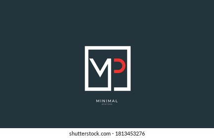 Alphabet letter icon logo MP