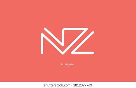 Alphabet letter icon logo NZ