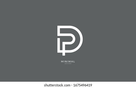 alphabet letter icon logo PD or DP