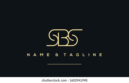 Alphabet letter icon logo SBS, BSS and SSB