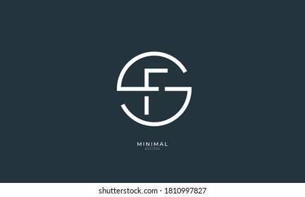 Alphabet letter icon logo SF or FS