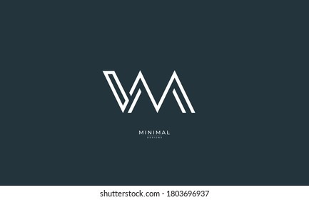 Alphabet letter icon logo VM