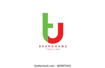 Alphabet letter Initial Monogram Logo TU, TU INITIAL, TU letter ,T and U