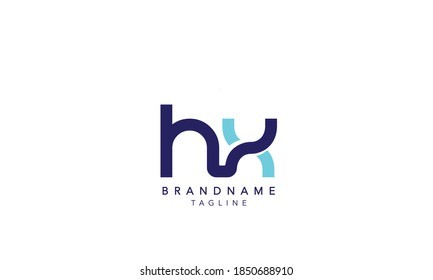 Alphabet letter Initial Monogram Logo HX, HX INITIAL,HX  letter ,H and  X