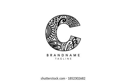 Alphabet letter Initial Monogram Logo C, C INITIAL, C letter