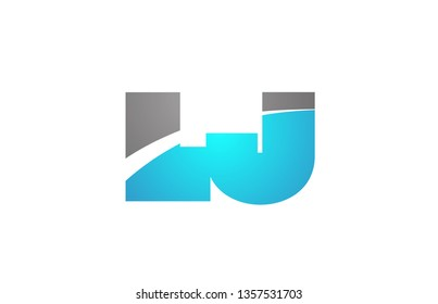 alphabet letter lj l j logo combination in blue and grey colors suitable for business and corporate identity