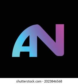AN Alphabet Letter Logo Design Image Stock Vector Download.