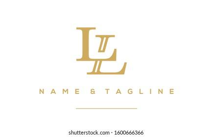 Alphabet letter monogram icon logo LL