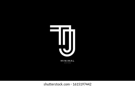 Alphabet letter monogram icon logo TJ