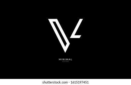 Alphabet letter monogram icon logo VL
