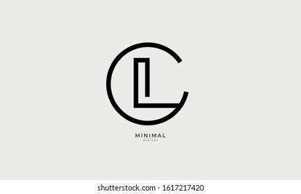 Alphabet letter monogram icon logo CL or LC