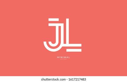 Alphabet letter monogram icon logo JL