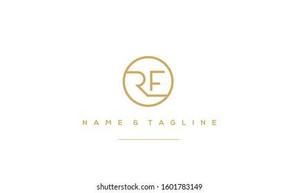 Alphabet letter monogram icon RE,RE