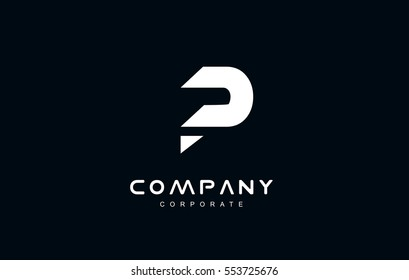 Alphabet letter P vector logo icon sign design template