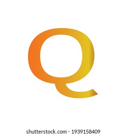 Alphabet letter Q vector. Web element. Signs symbols collection, simple icon for websites, web design, mobile app, info graphics on white background