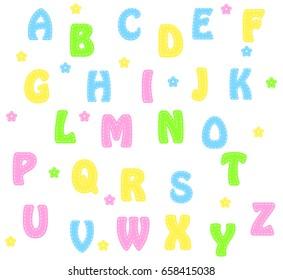 alphabet letters  background design