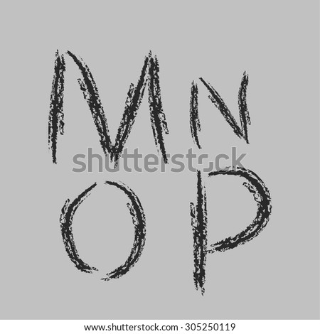 Alphabet Letters Alphabet Graffiti Written Chalk Stock Vector