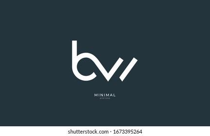 alphabet letters icon logo BW
