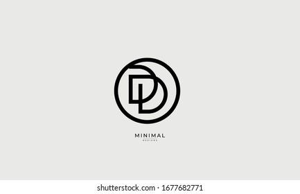 alphabet letters icon logo DD