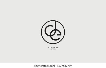 alphabet letters icon logo  DE