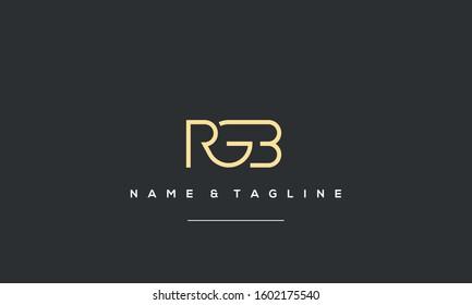 Alphabet letters icon logo RGB or BGR