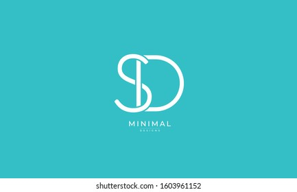 Alphabet letters icon logo SD or DS
