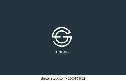 Alphabet letters icon logo SG or GS