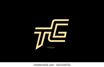 Alphabet letters icon logo TG