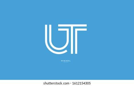 Alphabet letters icon logo UT