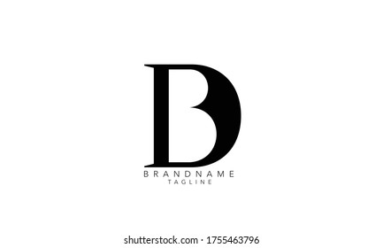 Alphabet letters Initials Monogram logo DB, BD D and B, B and D