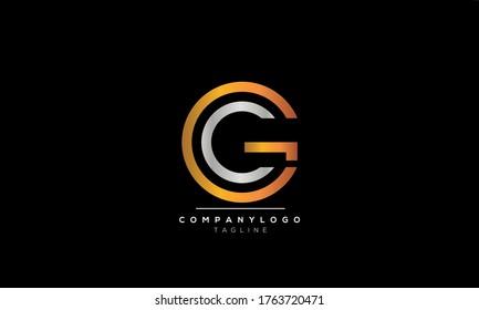Alphabet letters Initials Monogram logo CG and GC