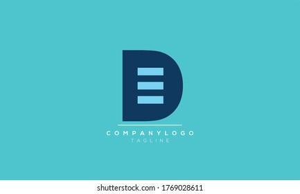 Alphabet letters Initials Monogram logo DE,ED,E and D