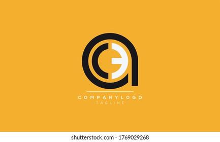Alphabet letters Initials Monogram logo ace,eca,ac,ca,ec