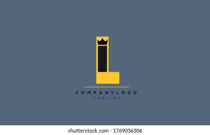 Alphabet letters Initials Monogram logo LI.IL,L and I