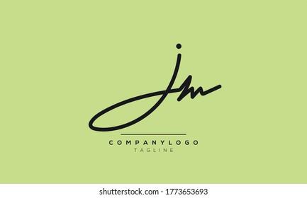 Alphabet letters Initials Monogram logo JM,MJ,J and M