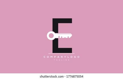 Alphabet letters Initials Monogram logo  CE,EC,E and C key