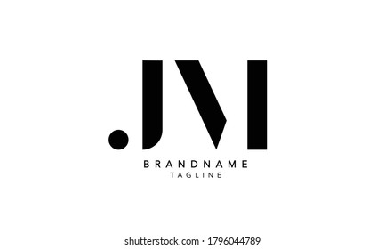 Alphabet letters Initials Monogram logo JM, MJ, J and M