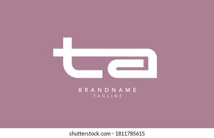 Alphabet letters Initials Monogram logo TA, AT, T and A