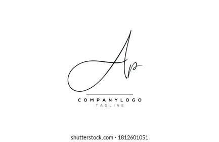 Alphabet letters Initials Monogram logo AP,PA