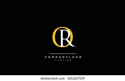 Alphabet letters Initials Monogram logo  RQ,QR,Q AND R