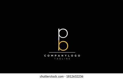 Alphabet letters Initials Monogram logo  bp,pb,b and p